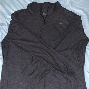 Quarter zip long sleeve workout top
